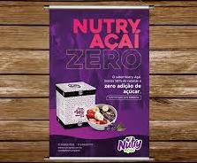 Banner Açaí Zero Adição de Açúcar.